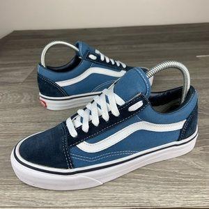 Unisex blue vans skate shoes low top old skool